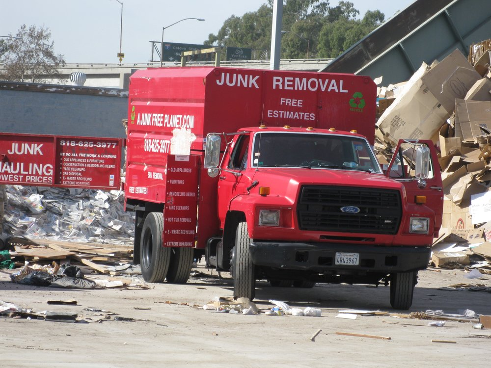 A Junk Free Planet Big Red Truck